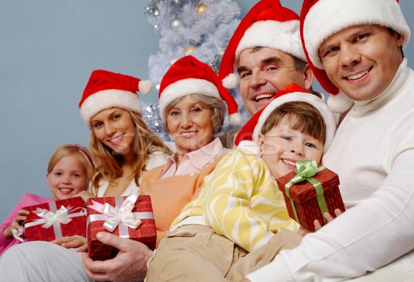Genegenheid portret gelukkig gezin hartelijk jongen Stockfoto © pressmaster