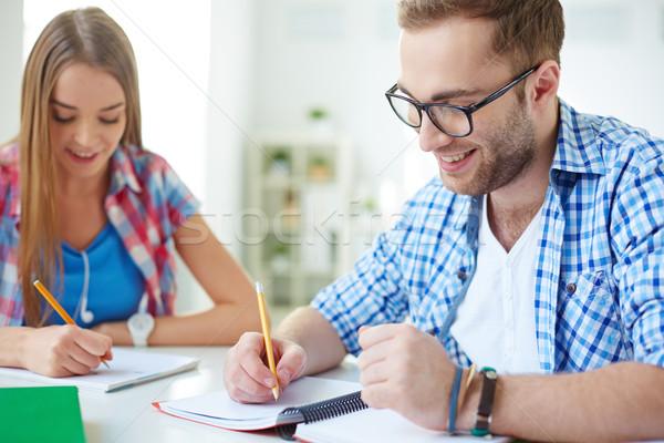 Zdjęcia stock: Liceum · studentów · człowiek · kobieta · dziewczyna · edukacji