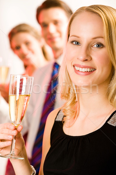 Mulher atraente retrato sorrir amigos mulher menina Foto stock © pressmaster