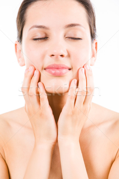 Stock photo: Face of woman