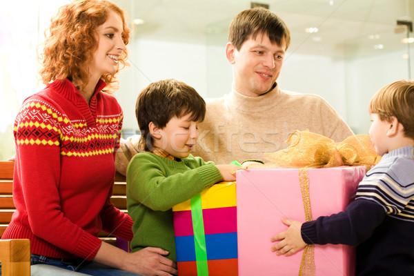 Sharing presents Stock photo © pressmaster