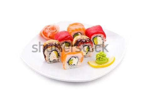 маки изображение суши служивший имбирь Сток-фото © pressmaster