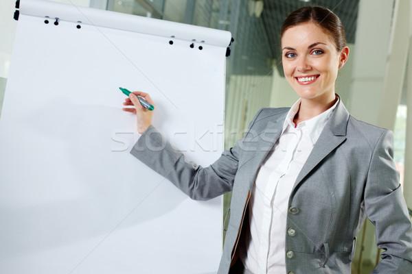 Signora lavoro giovani donna d'affari fuori Foto d'archivio © pressmaster