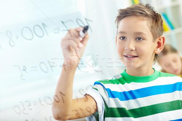 математика портрет красивый образование Дать мальчика Сток-фото © pressmaster