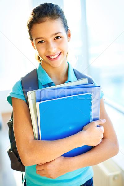 Scuola verticale ritratto bella studente Foto d'archivio © pressmaster