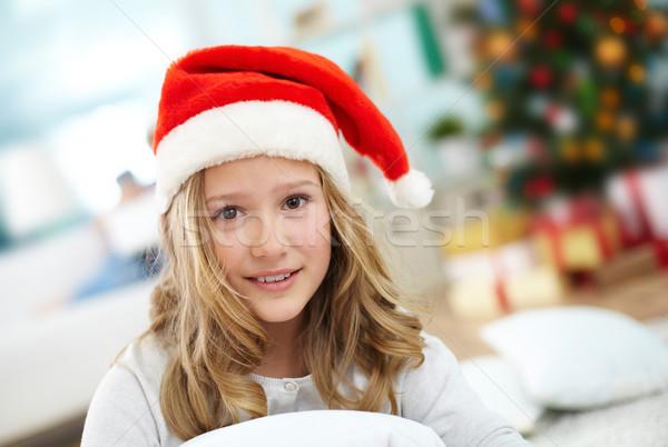 Girl in santa cap Stock photo © pressmaster