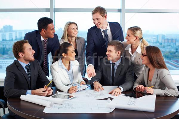 Arbeiten Sitzung Gruppe freundlich Stock foto © pressmaster