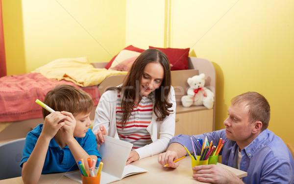 Making schoolwork Stock photo © pressmaster