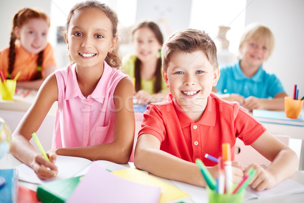 Elementary school learners Stock photo © pressmaster