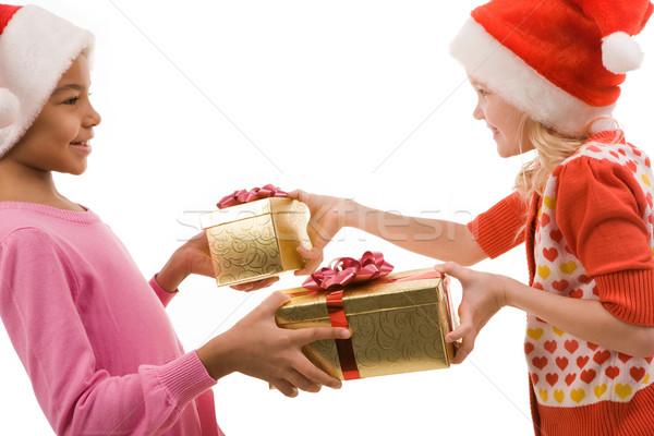 Exchanging gifts Stock photo © pressmaster