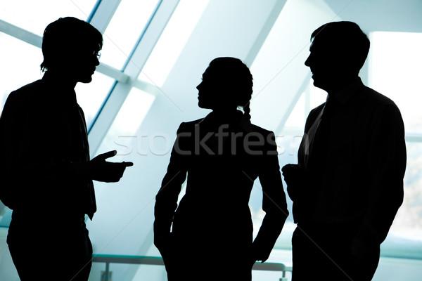 üzleti csoport három sziluettek üzletemberek egyéb iroda Stock fotó © pressmaster