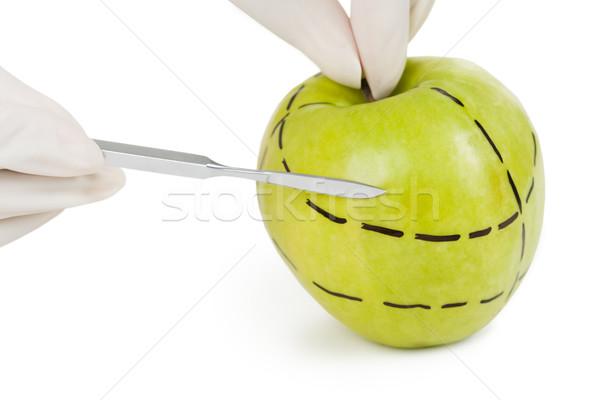 Vág alma közelkép zöld pontozott vonalak Stock fotó © pressmaster