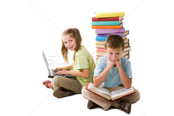 Intelligente Schüler smart Mädchen Laptop cute Stock foto © pressmaster