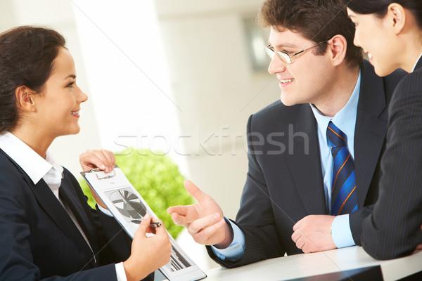Trabajo en equipo retrato ocupado negocios plan Foto stock © pressmaster