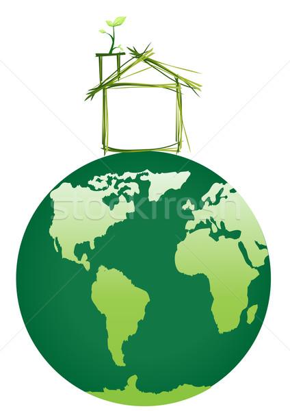 теплица земле дизайна домой краской Живопись Сток-фото © pressmaster