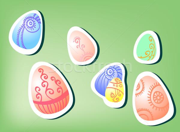 Symboliek Pasen ontwerp verf kunst groene Stockfoto © pressmaster