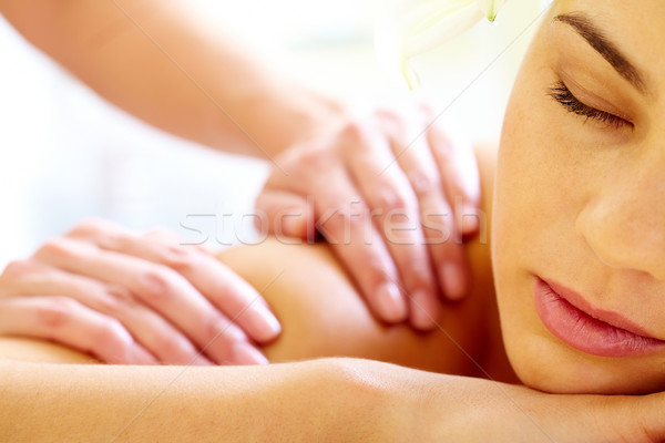 Luxueus procedure vrouwelijke massage Stockfoto © pressmaster