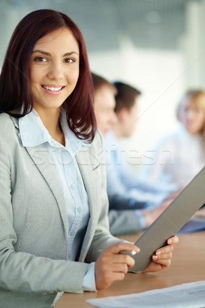 Zdjęcia stock: Pani · działalności · dziewczyna · folderze