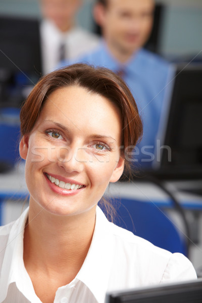 Bastante feminino retrato jovem empresária olhando Foto stock © pressmaster