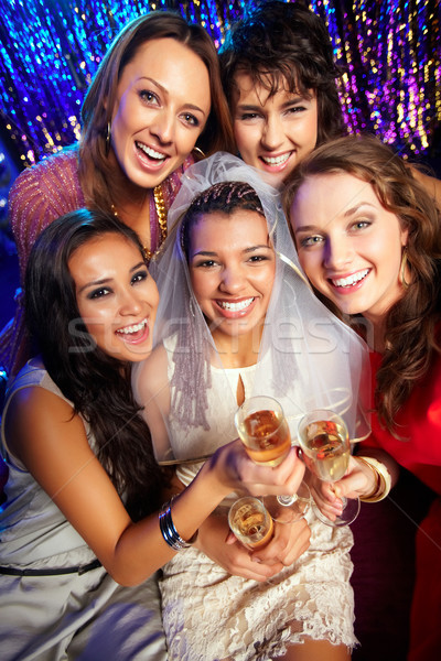 ストックフォト: グループ · 友達 · 飲料 · 健康 · 幸福 · 花嫁