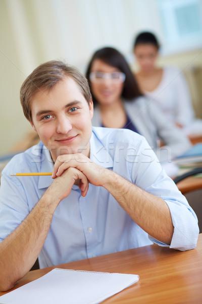 Puce Guy portrait élégant étudiant regarder Photo stock © pressmaster