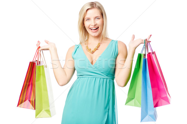 Woman with paperbags Stock photo © pressmaster