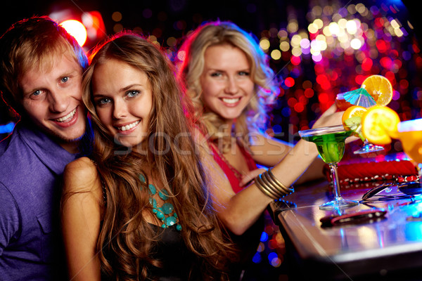 Friendly clubbers Stock photo © pressmaster