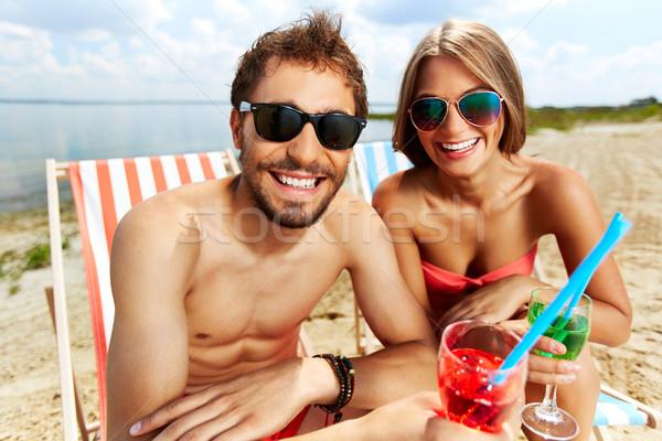 Strand partij jonge liefhebbers feesten Stockfoto © pressmaster