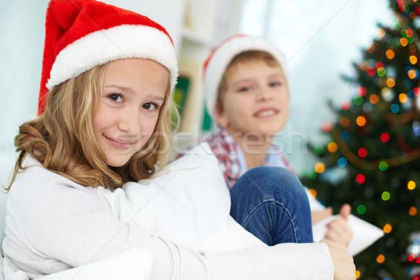 Siblings on Christmas Stock photo © pressmaster