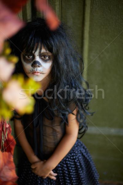 悪 伝統 肖像 少女 ハロウィン ストックフォト © pressmaster