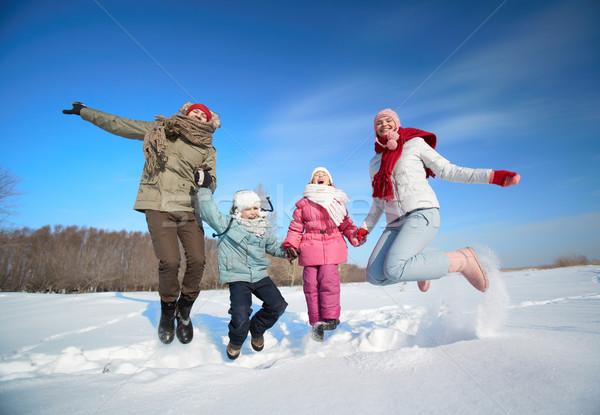 Family in snowdrift Stock photo © pressmaster