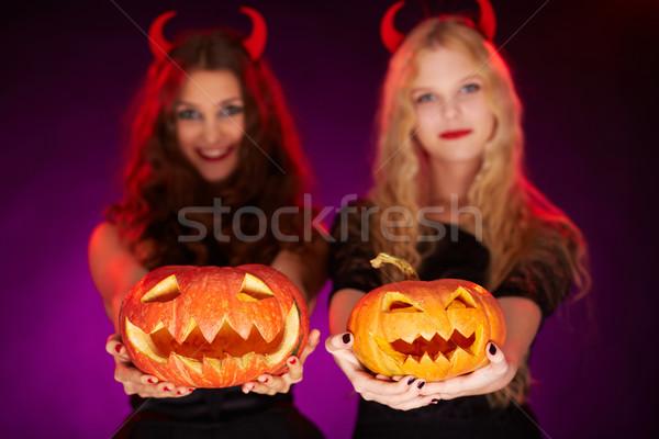 Jack-o-lanterns Stock photo © pressmaster