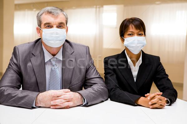 People in masks Stock photo © pressmaster