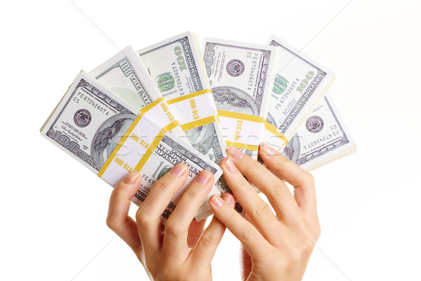 Dollars in hands Stock photo © pressmaster