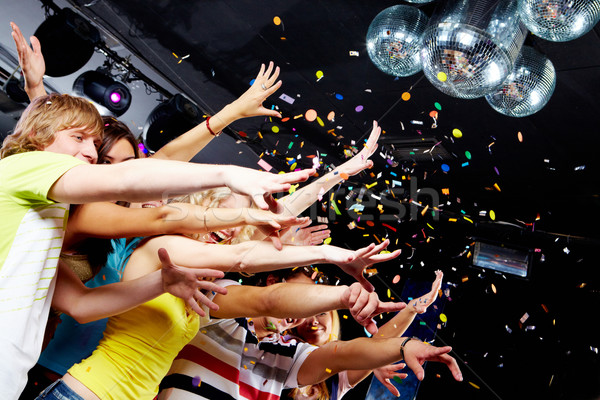 Clubbing foto tieners armen Stockfoto © pressmaster