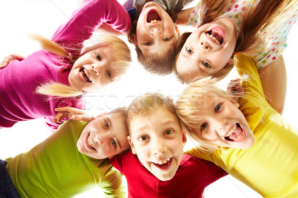 Fiatalság jókedv kép boldog gyerekek család Stock fotó © pressmaster