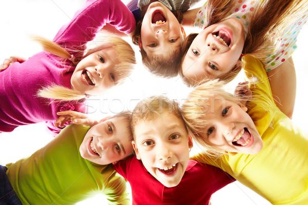 Jugend Spaß Bild glücklich Kinder Familie Stock foto © pressmaster