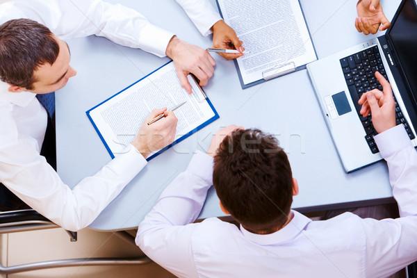 Stock fotó: Megbeszélés · fölött · kilátás · néhány · üzleti · partnerek · üzlet