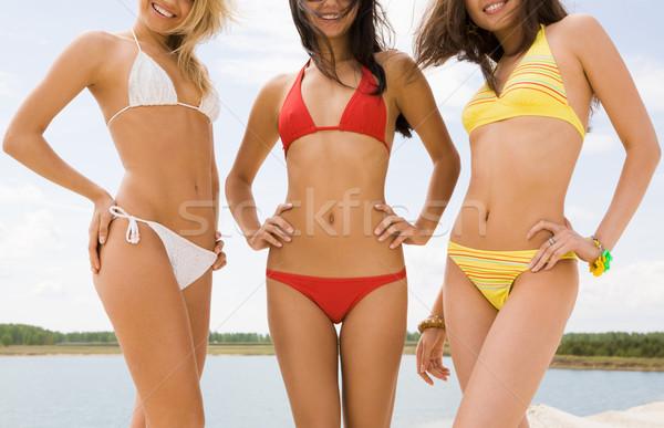 Piękna damska portret trzy wdzięczny dziewcząt Zdjęcia stock © pressmaster