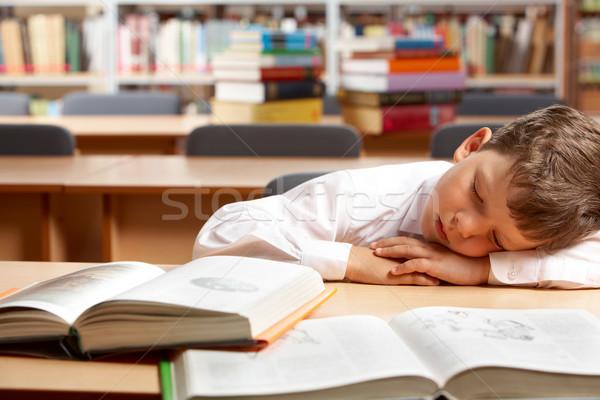 Stok fotoğraf: Rüya · görüntü · uyku · kitaplar · kütüphane