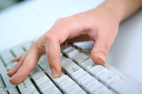 женщины стороны клавиатура женщину Сток-фото © pressmaster