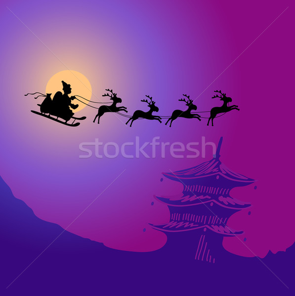 Santa Claus with reindeers  Stock photo © pressmaster