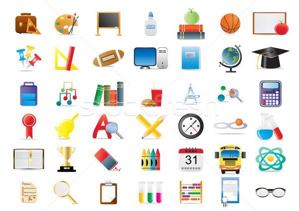 education-icon-set Stock photo © pressmaster