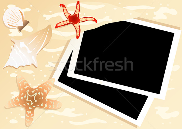 stock-vector-pictures-in-a-beach-vacation-memories Stock photo © pressmaster
