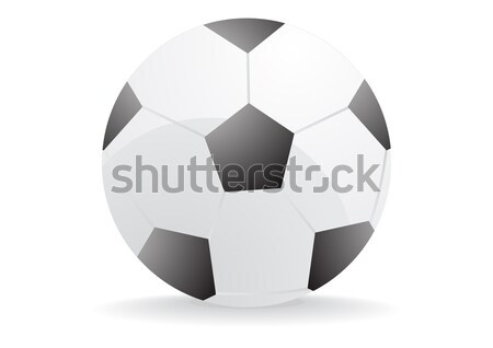 Stockfoto: Voetbal · voetbal · abstract · voetbal · bal · zwarte