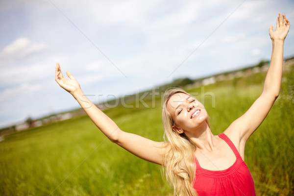 Glorious gesture Stock photo © pressmaster
