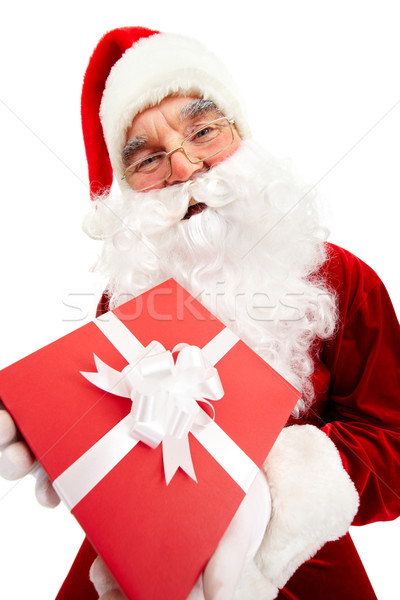 Santa with giftbox Stock photo © pressmaster