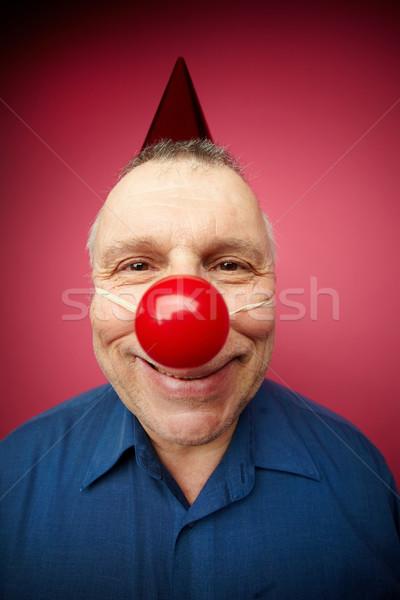 Feliz palerma retrato alegre homem vermelho Foto stock © pressmaster