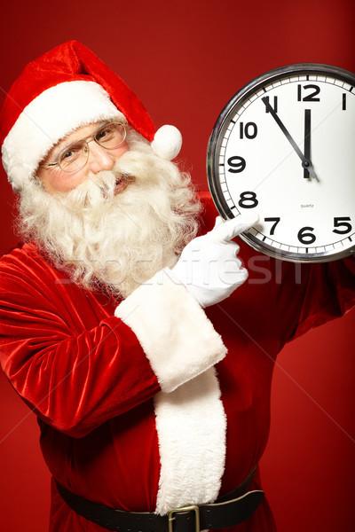 öt jegyzőkönyv karácsony fotó mikulás tart Stock fotó © pressmaster