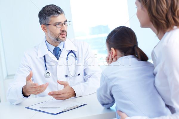 Doctor speaking Stock photo © pressmaster
